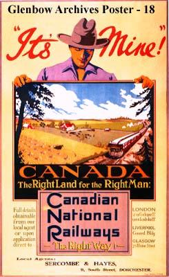 """It's Mine! Canada - The Right Land for the Right Man. Canadian National Railways - The..."