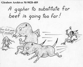 """A gopher to substitute for beef is going too far!"""