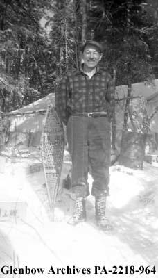 Joe Boulette of Manigotagan, Manitoba, at Clarke Lake, near Wabowden, Manitoba.
