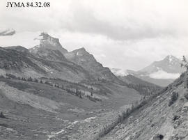 Scenery in the Miette Pass and Grant Pass area, Jasper National Park, Alberta.