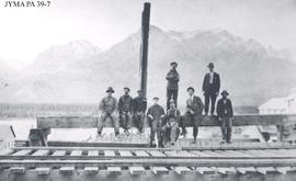 Group of miners at Pocahontas, Jasper National Park, Alberta.