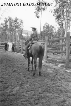 Jasper Rodeo Queen Contestant, Pyramid Riding Stables, Jasper, Alberta