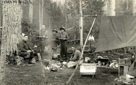A hunting group in their camp.