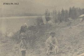 The George girls at Fitzhugh, Jasper National Park, Alberta.