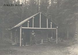 A log cabin, location unknown, Jasper National Park, Alberta.