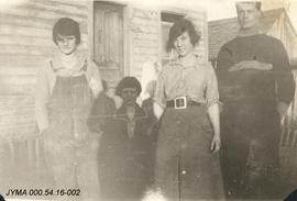 Zita Long with Ray [Scott], Jean and Angela, Alberta.