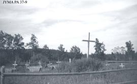 A cemetery near the ruins of a Hudson Bay Company post at Pierre Grey Lakes, near Grande Cache, A...