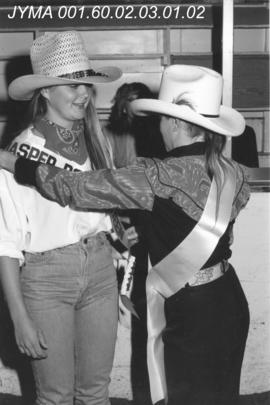 Crowning of the Rodeo Queen, Jasper Lion's Indoor Rodeo, Jasper Arena