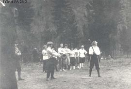 Ladies baseball game at Lucerne, British Columbia.
