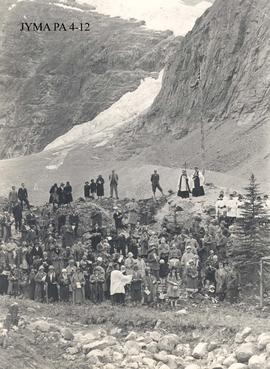 Annual memorial ceremony at Mount Edith Cavell for the British nurse by the St. Mary and St. Geor...