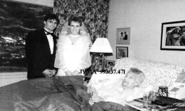 David Heppolette and Bride with his grandmother Gwendolyn Anne (Robson) Johnston.