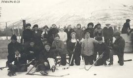 A hockey team, Jasper, Alberta.