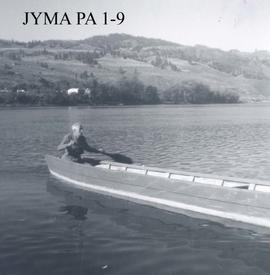 Edward (Ted) Abram in a pointer boat.