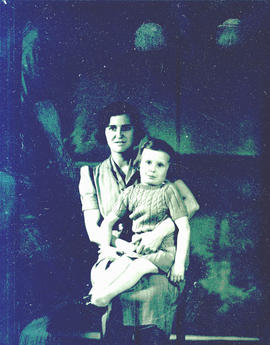 Mrs. Vivian Jacobson with child