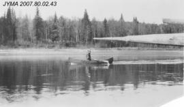 [R.H. Knight on the Athabasca River], Alberta