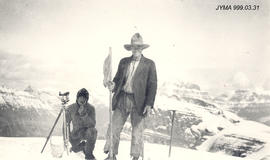 Art Hughes on the North Boundary Survey, Jasper, Alberta.