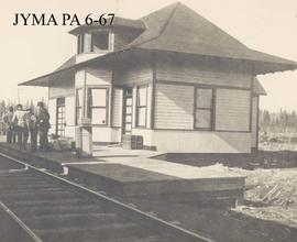 A typical Grand Trunk Pacific Railway station (location unknown).