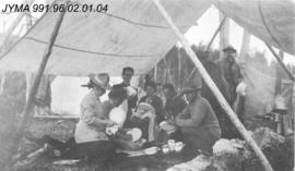 [Alpine Club members at camp], Yoho National Park, British Columbia