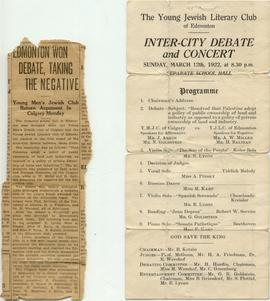Inter-City Debate and Concert