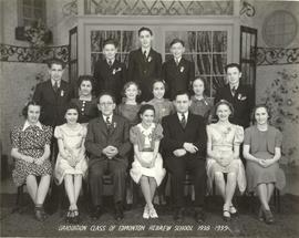 Graduation Class of Edmonton Hebrew School 1938-1939.