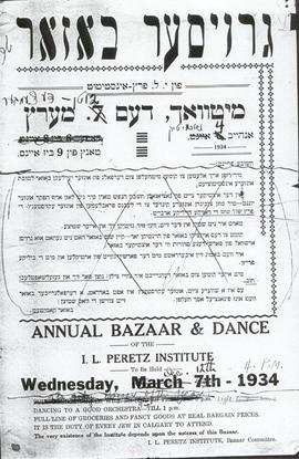 Annual Bazaar and Dance 1934.