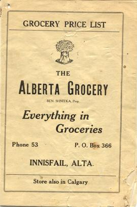 Alberta Grocery Price List.