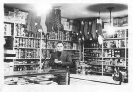 Meyer Adler in his store.