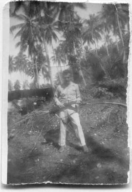 Albert Nelson in the South Pacific during World War II.