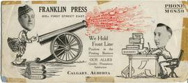 Franklin Press Front Line Ad.