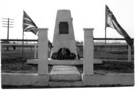 Cenotaph in first Legion Park located at the northeast corner of 48 Avenue and 49 Street, Millet,...
