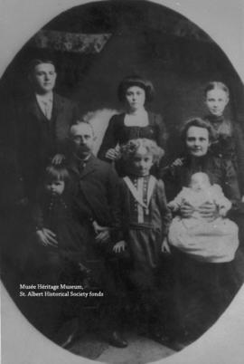 Cyprien and Agnes Loiselle family.