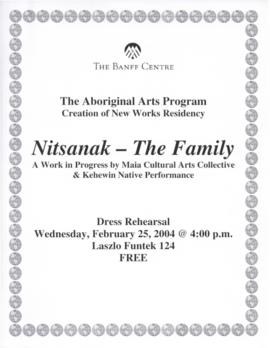 "Creation of New Works 2003/2004 ""Nitsanak"" Poster, Program, and Flyers"