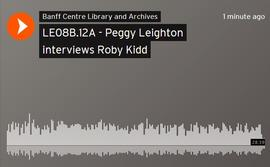 Peggy Leighton interviews Roby Kidd