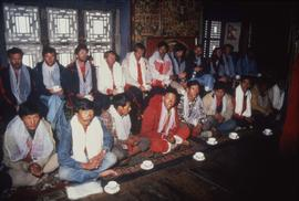 Canadian Everest Expedition team at Tengboche monastery : [slide]
