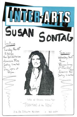 """Susan Sontag : Traditions of the New"" : [poster]"