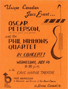 "SF 589 - ""Oscar Peterson and the Phil Nimmons Quartet"" : [poster]"