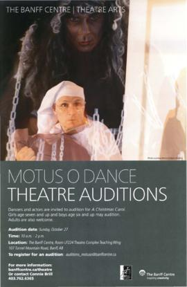 Motus O Dance Theatre auditions