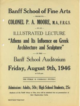 """Athens and its Influence on Greek Architecture and Sculpture"" : [poster]"