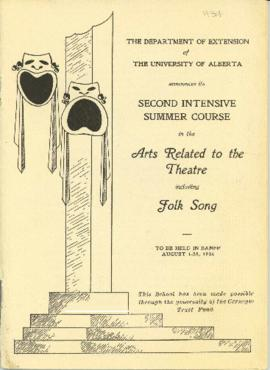 Banff School Program Calendar, 1934