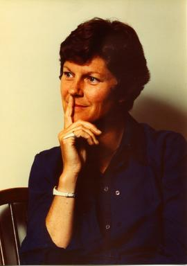 Portrait of Ann Southam posing