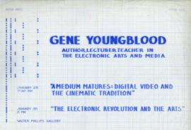 Gene Youngblood : author, lecturer, teacher in the electronic arts and media : [poster]