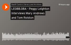 Peggy Leighton interviews Mary Andrews and Tom Rolston