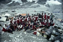 1982 Canadian Everest Expedition team at Base Camp : [internegative]