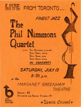 "SF 592 - ""The Phil Nimmons Quartet"" : [poster]"
