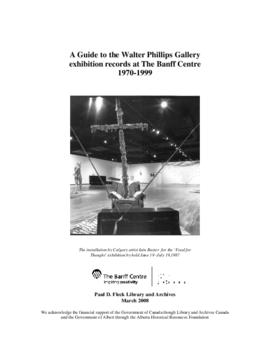 Walter Phillips Gallery exhibition records