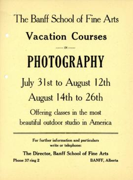 Vacation courses in photography : [poster]
