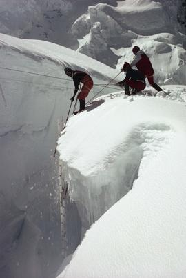 Climbers in Khumbu Icefall : [internegative]