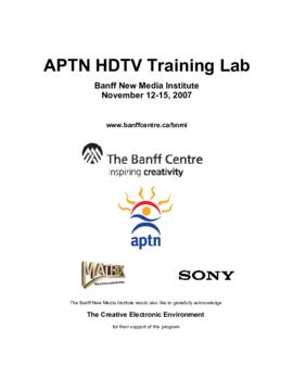 """APTN HDTV Training Lab"" : [agenda]"