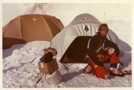 Laurie Skreslet at Everest Camp II