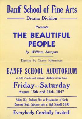 """The Beautiful People"" by William Saroyan : [poster]"